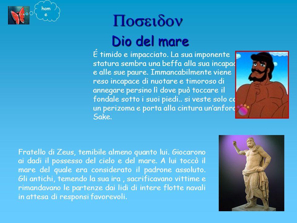 Dio del mare Dio del mare Fratello di Zeus, temibile almeno quanto lui.