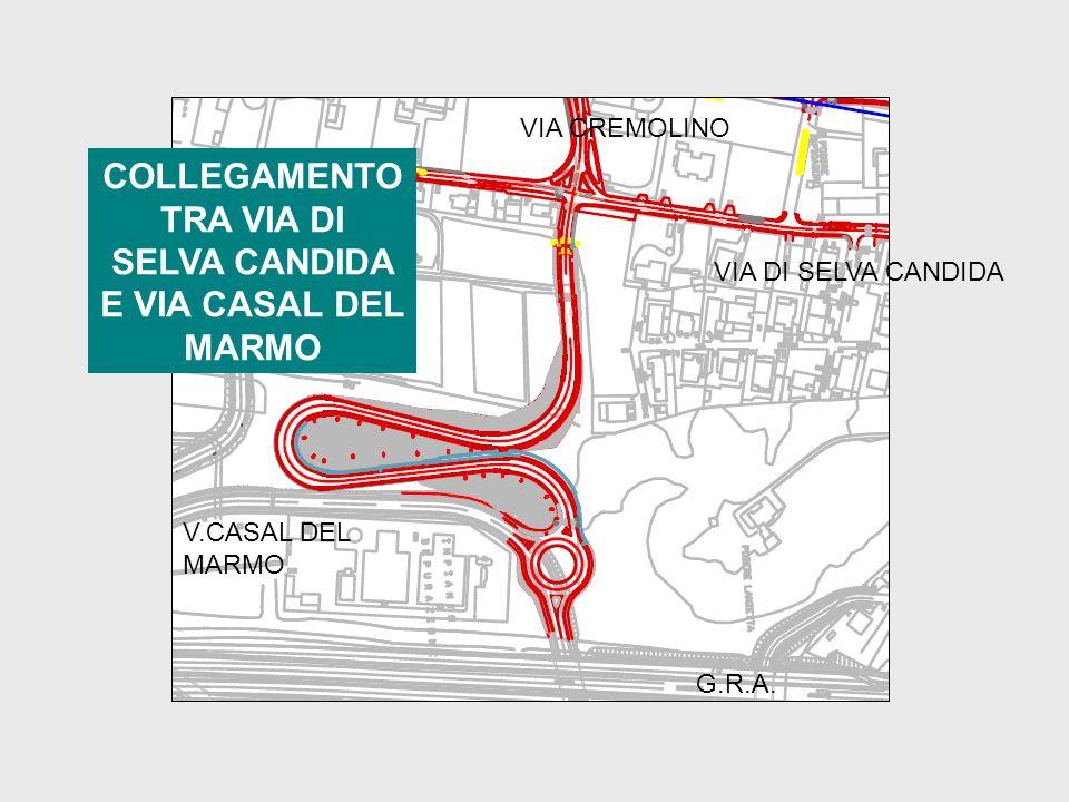 COLLEGAMENTO TRA VIA DI SELVA CANDIDA E VIA CASAL DEL MARMO VIA CREMOLINO VIA DI SELVA CANDIDA V.CASAL DEL MARMO G.R.A.