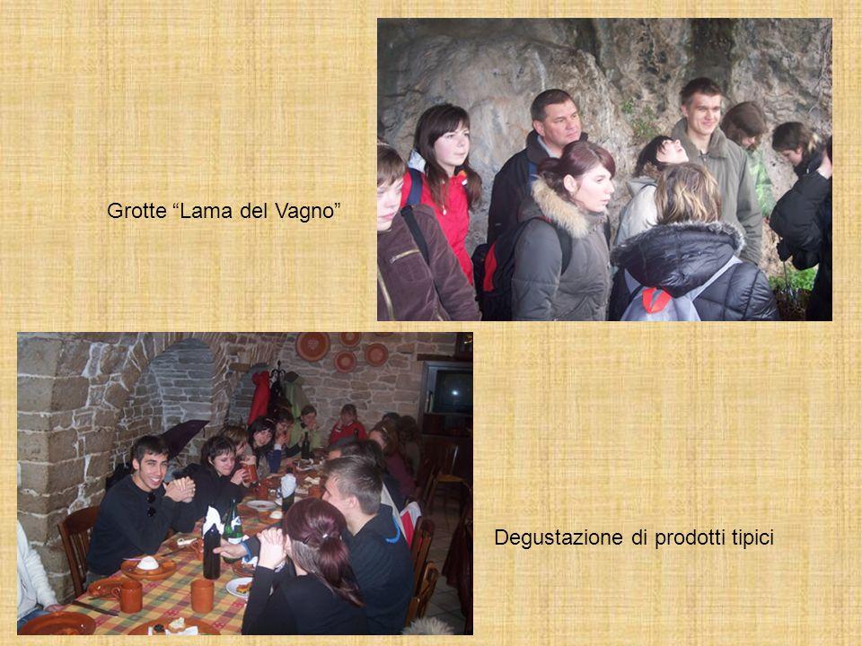 Grotte Lama del Vagno Degustazione di prodotti tipici