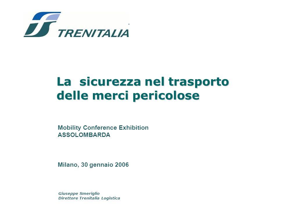 I vantaggi ambientali del treno Con i volumi di merci trasportate Trenitalia Logistica fa risparmiare alla collettività circa un miliardo di Euro per i minori costi esterni.