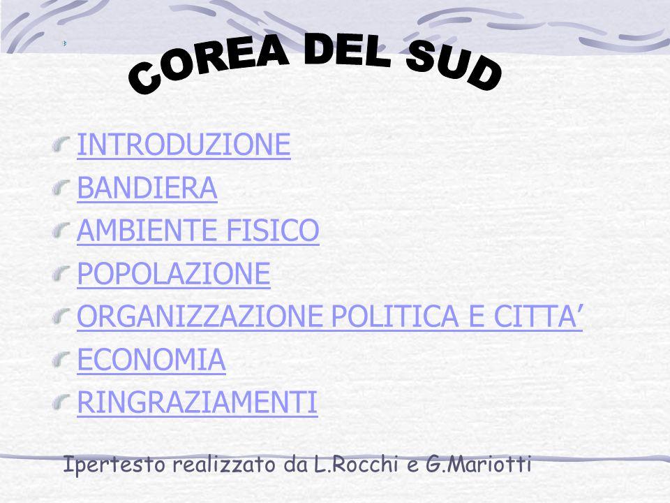 INTRODUZIONE BANDIERA AMBIENTE FISICO POPOLAZIONE ORGANIZZAZIONE POLITICA E CITTA ECONOMIA RINGRAZIAMENTI Ipertesto realizzato da L.Rocchi e G.Mariotti
