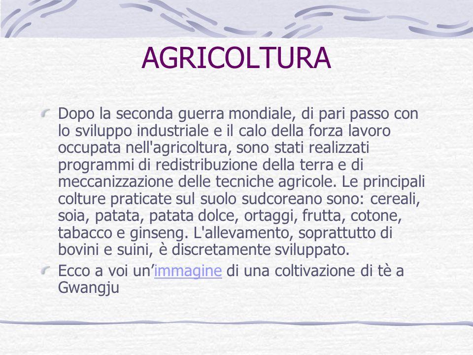 ECONOMIA In passato l'economia si basava fondamentalmente sull'agricoltura, ma a partire dai primi anni Sessanta il paese fu teatro di un processo di
