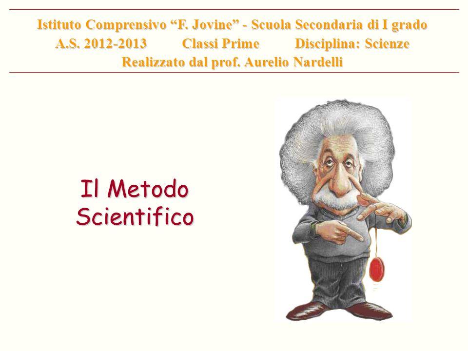 Il Metodo Scientifico Istituto Comprensivo F. Jovine - Scuola Secondaria di I grado A.S. 2012-2013 Classi Prime Disciplina: Scienze Realizzato dal pro