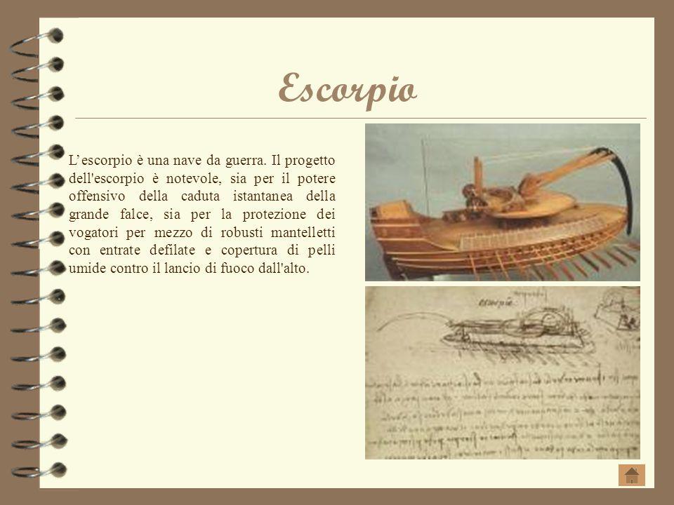 Escorpio Lescorpio è una nave da guerra. Il progetto dell'escorpio è notevole, sia per il potere offensivo della caduta istantanea della grande falce,