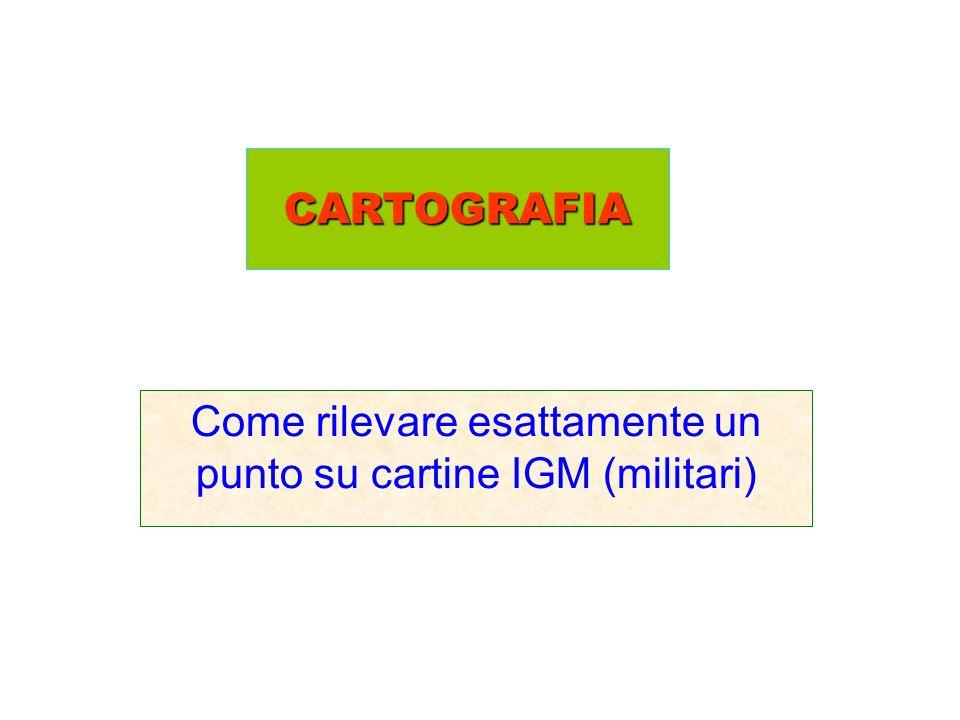 CARTOGRAFIA Come rilevare esattamente un punto su cartine IGM (militari)