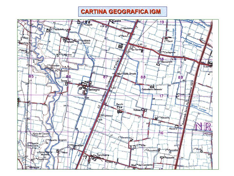 CARTINA GEOGRAFICA IGM