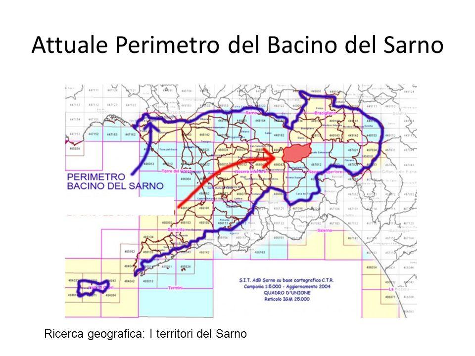 Attuale Perimetro del Bacino del Sarno Ricerca geografica: I territori del Sarno