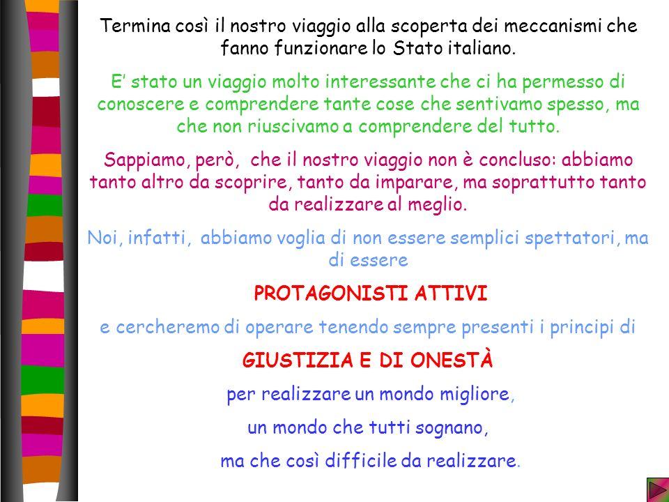Termina così il nostro viaggio alla scoperta dei meccanismi che fanno funzionare lo Stato italiano.