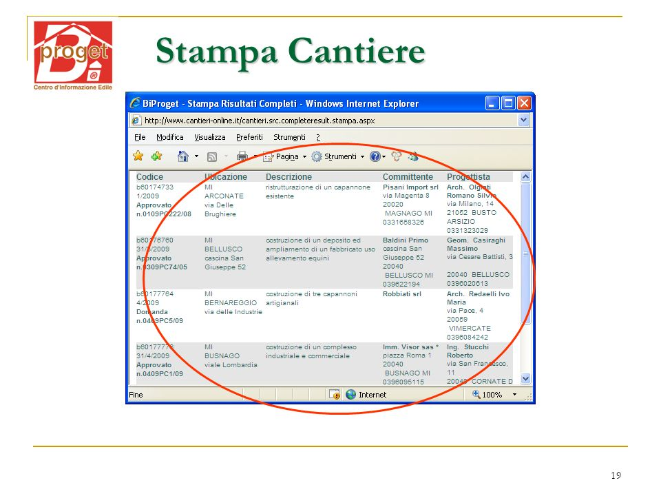 19 Stampa Cantiere