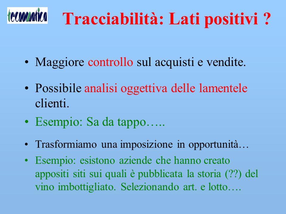 Tracciabilità senza errori .