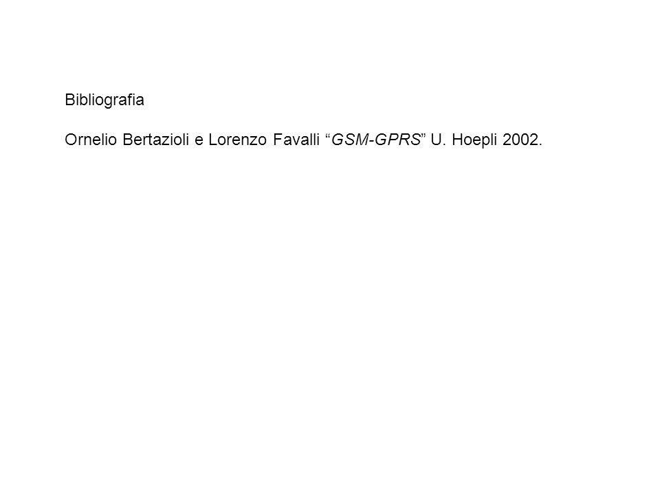 Bibliografia Ornelio Bertazioli e Lorenzo Favalli GSM-GPRS U. Hoepli 2002.