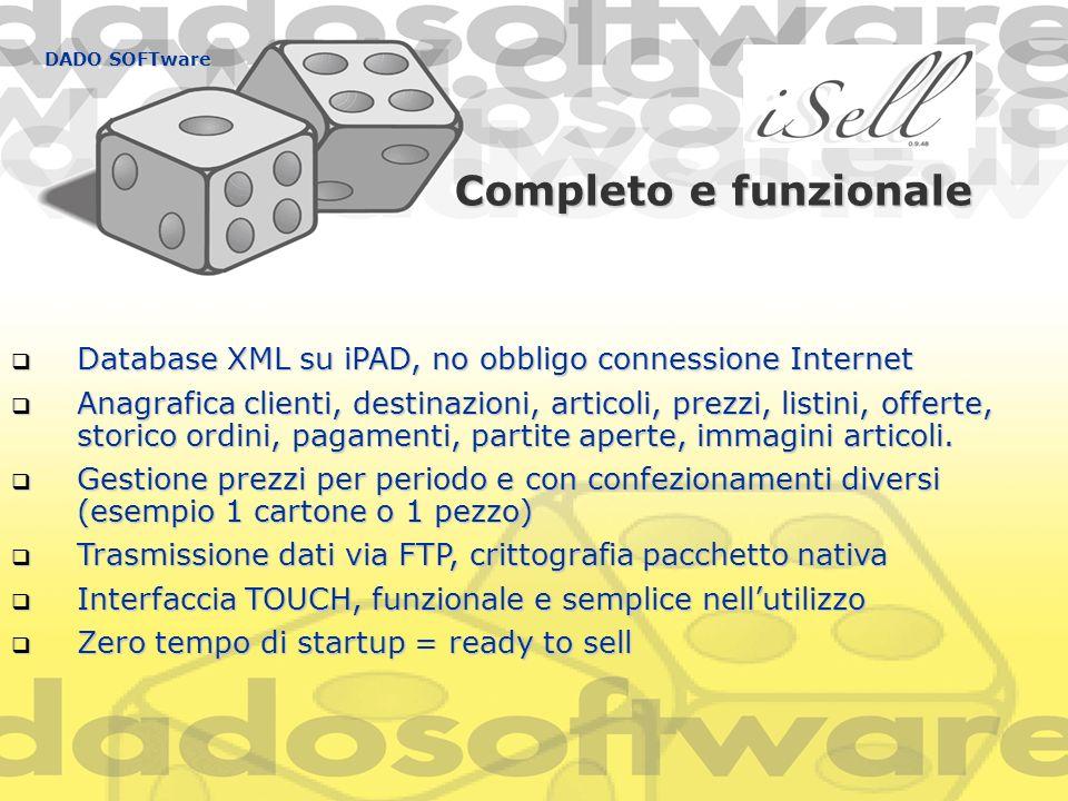 Completo e funzionale Database XML su iPAD, no obbligo connessione Internet Database XML su iPAD, no obbligo connessione Internet Anagrafica clienti,