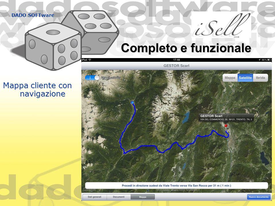 DADO SOFTware Completo e funzionale Mappa cliente con navigazione