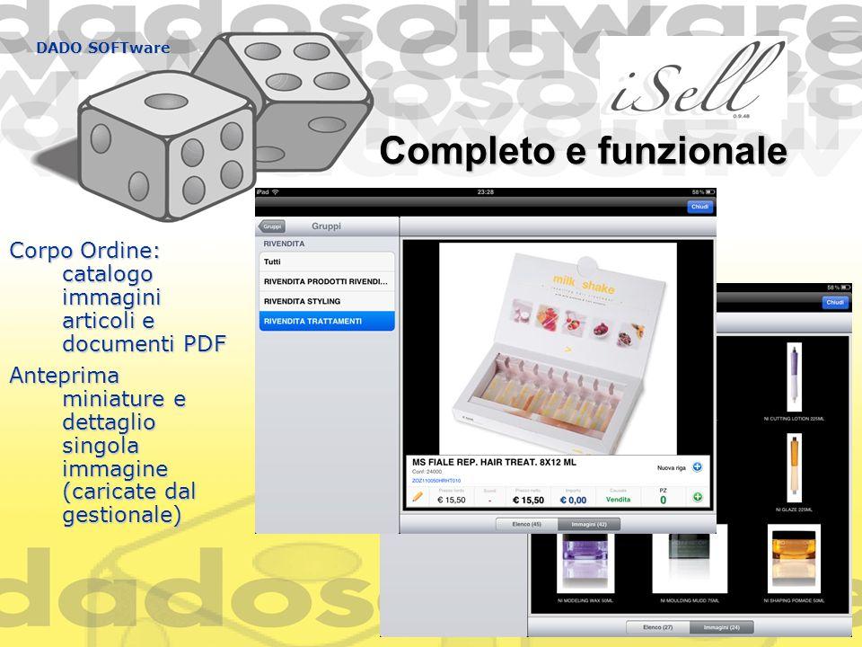 DADO SOFTware Completo e funzionale Corpo Ordine: catalogo immagini articoli e documenti PDF Anteprima miniature e dettaglio singola immagine (caricat