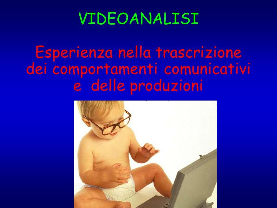 VIDEOANALISI Esperienza nella trascrizione dei comportamenti comunicativi e delle produzioni
