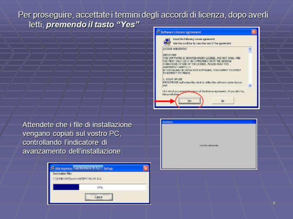 29 Il Software SOLID Conversione dei dati importati in Tachostore e visualizzazione nel programma SOLID Selezionate sul desktop licona del programma, scegliete la lingua italiana e digitate la password solid (in minuscolo).