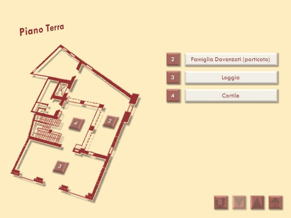 2 2 3 3 4 4 Famiglia Davanzati (porticato) Loggia Cortile