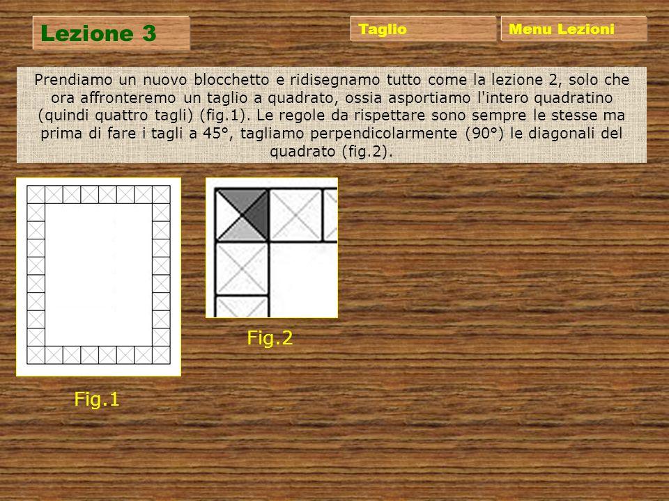 Lezione 2 Menu Lezioni Giriamo ora il nostro blocchetto e sul retro ridisegnamo la stessa cornice che avevamo fatto prima, ma questa volta dividiamo i