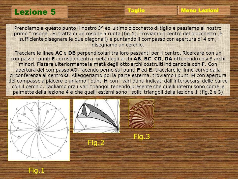 Lezione 4 Menu Lezioni Giriamo di nuovo il blocchetto e passiamo a qualcosa di più complesso, i tagli rotondi. Per fare questo disegnamo le