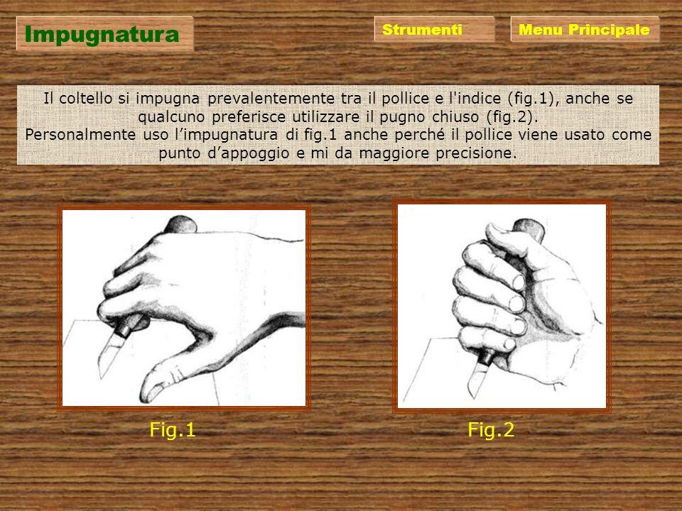 Strumenti I coltelli da intaglio esistono di varie marche e forme. Personalmente uso quelli della ditta N.Codega di Premana (LC) (www.codega.it) ma an