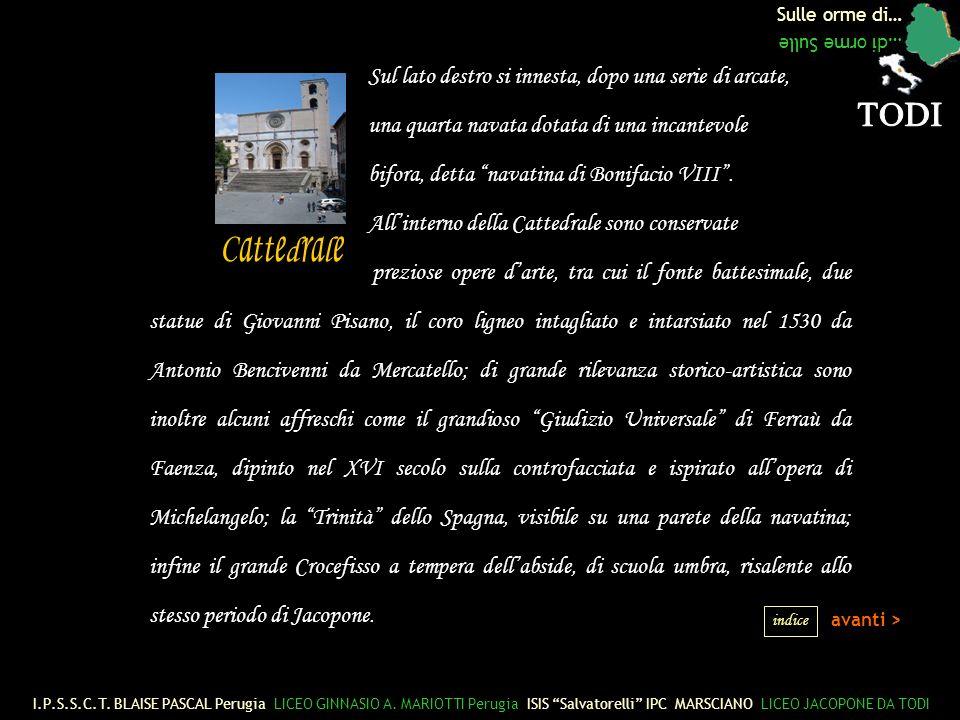 Sulle orme di… …di orme Sulle Sul lato destro si innesta, dopo una serie di arcate, una quarta navata dotata di una incantevole bifora, detta navatina di Bonifacio VIII.