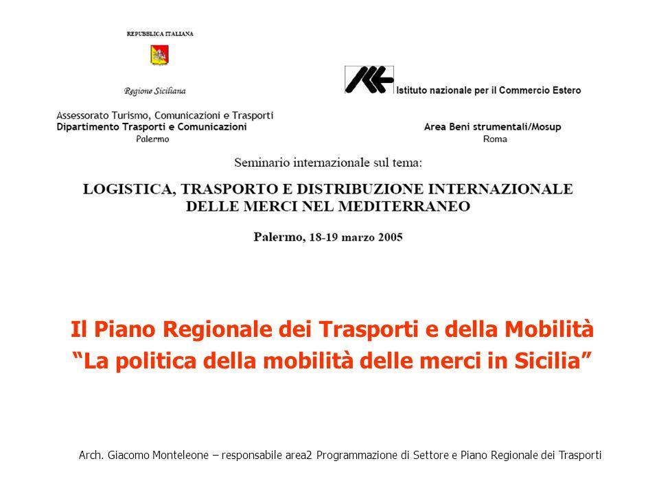 Il Piano Regionale dei Trasporti e della Mobilità La politica della mobilità delle merci in Sicilia Arch.