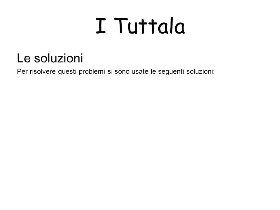 I Tuttala Le soluzioni Per risolvere questi problemi si sono usate le seguenti soluzioni: