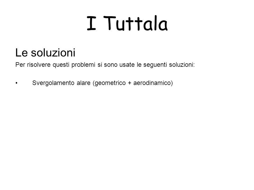 I Tuttala Le soluzioni Per risolvere questi problemi si sono usate le seguenti soluzioni: Svergolamento alare (geometrico + aerodinamico)