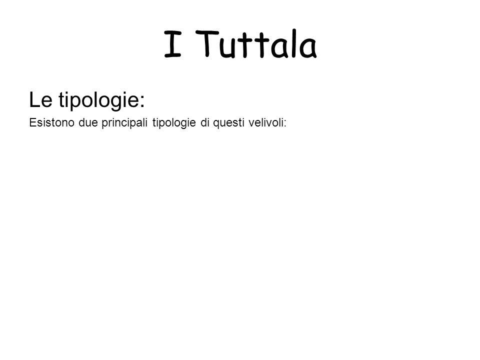 I Tuttala Le tipologie: Esistono due principali tipologie di questi velivoli:
