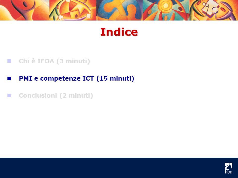 Indice nCnChi è IFOA (3 minuti) nPnPMI e competenze ICT (15 minuti) nCnConclusioni (2 minuti)