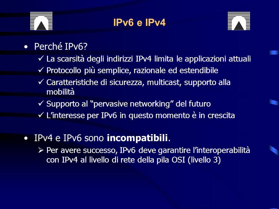 IPv6 e IPv4 Perché IPv6.