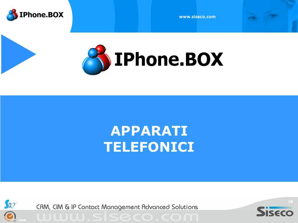2008 28 APPARATI TELEFONICI