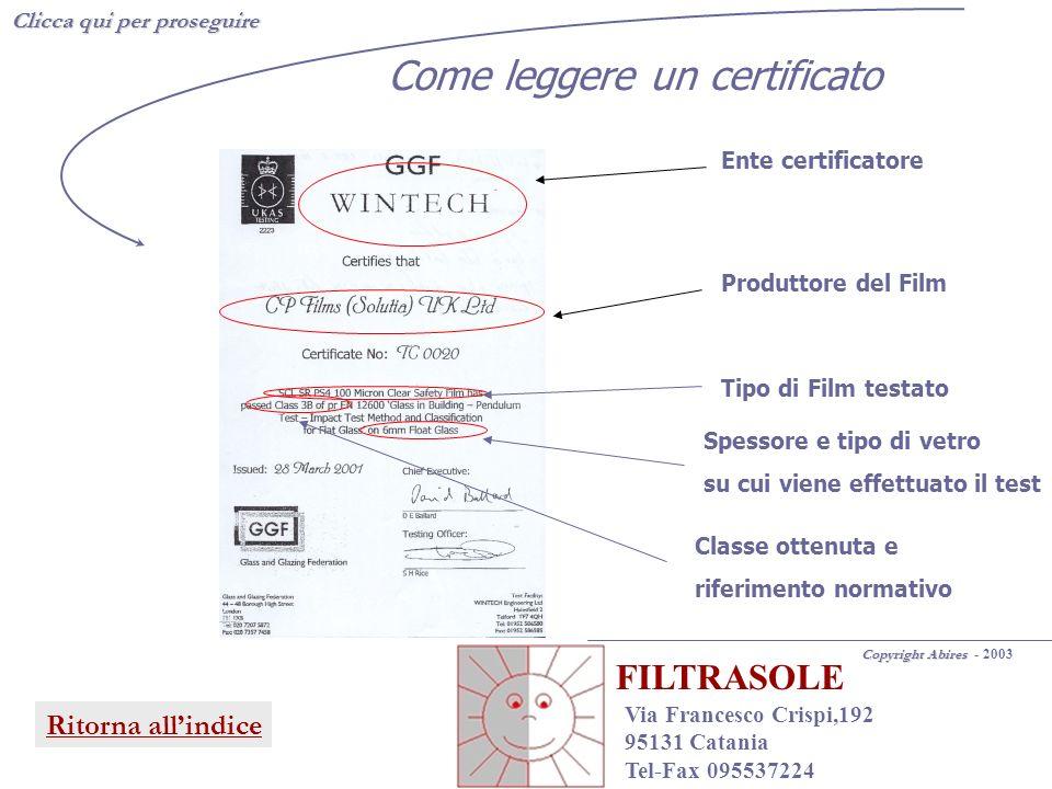 Clicca qui per proseguire Copyright Abires Copyright Abires - 2003 FILTRASOLE Via Francesco Crispi,192 95131 Catania Tel-Fax 095537224 Ritorna allindi