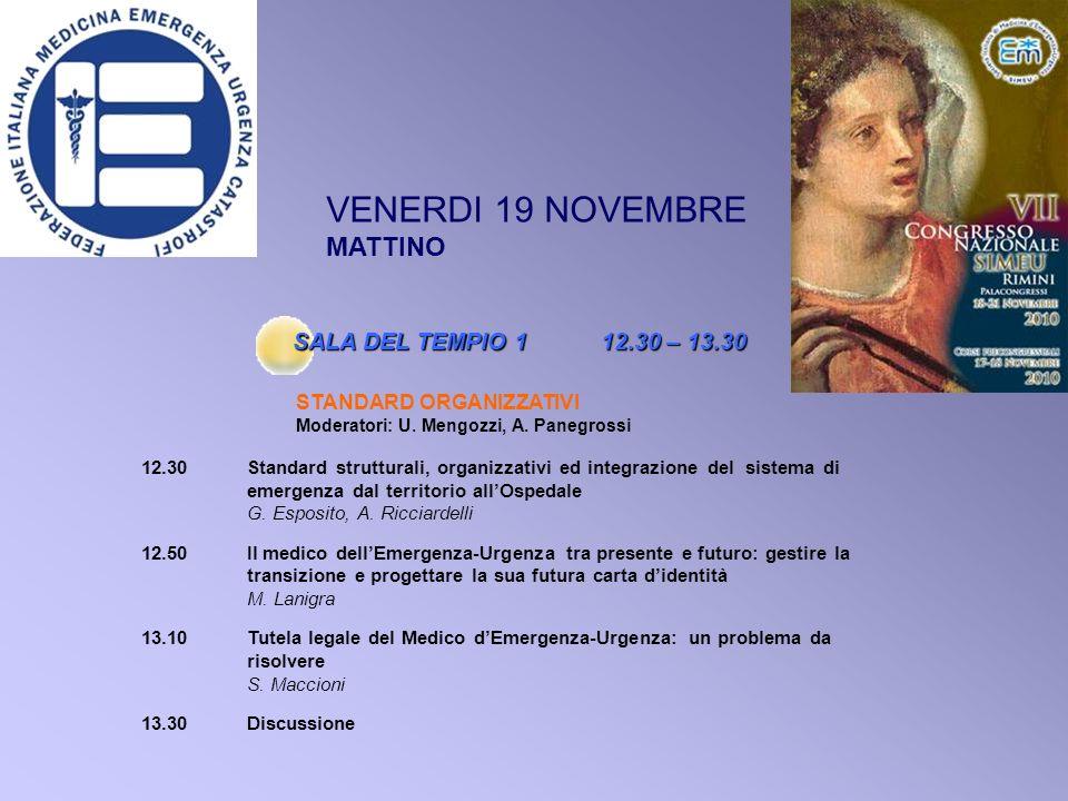 12.30Standard strutturali, organizzativi ed integrazione del sistema di emergenza dal territorio allOspedale G.
