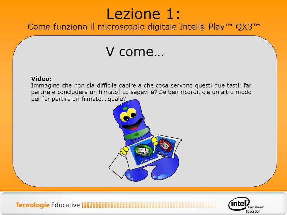 Lezione 1: Come funziona il microscopio digitale Intel® Play QX3 Video: Immagino che non sia difficile capire a che cosa servono questi due tasti: far