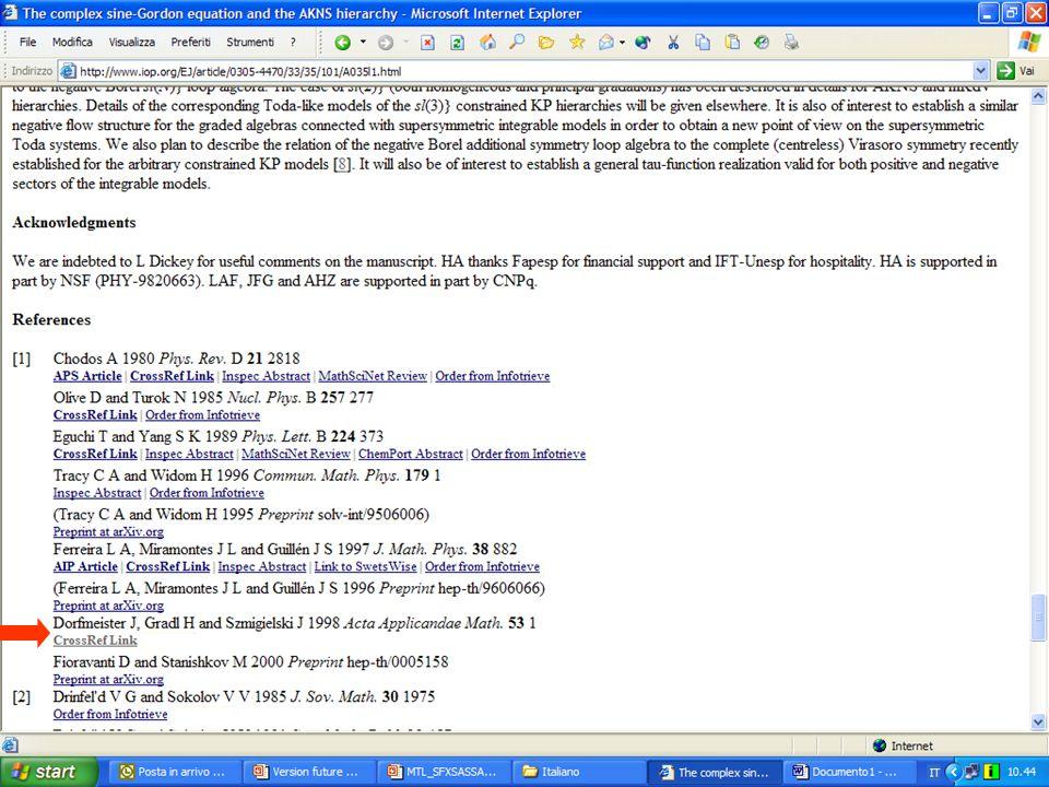 Integrazione con Sistemi di e-Learning Possibilità di integrazione fra MetaLib e sistemi di e-learning Possibilità di integrazione fra MetaLib e sistemi di e-learning Esempio di integrazione di MetaLib con Blackboard realizzato dalla University of Westminster di Londra Esempio di integrazione di MetaLib con Blackboard realizzato dalla University of Westminster di Londra Sito web del progetto JISC OLIVE: http://www.jisc.ac.uk/index.cfm?name=project_olive