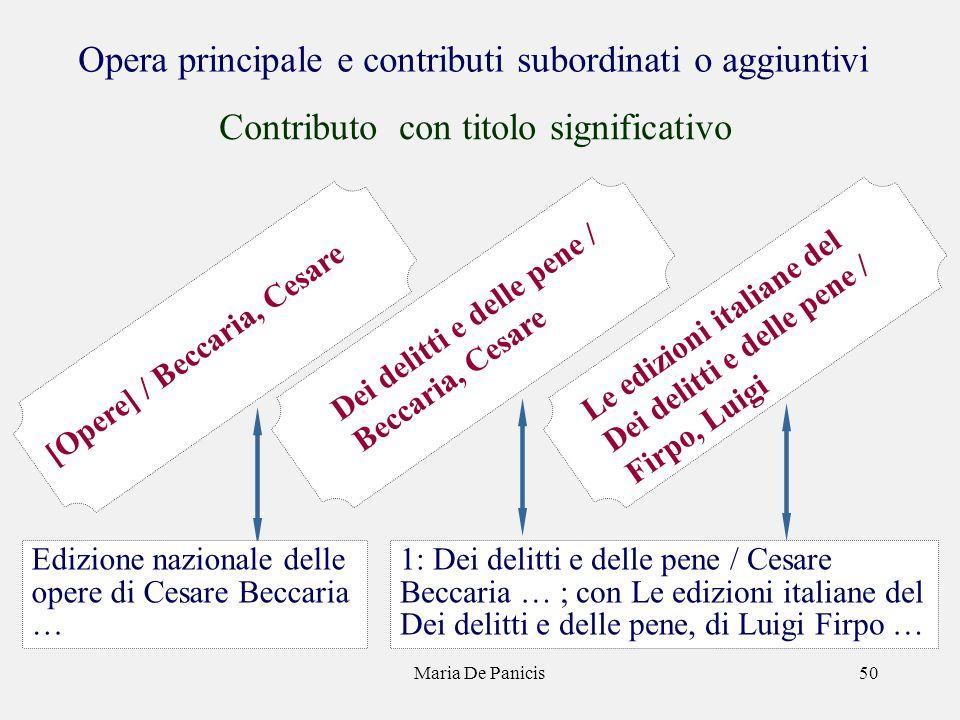 Maria De Panicis50 Dei delitti e delle pene / Beccaria, Cesare Le edizioni italiane del Dei delitti e delle pene / Firpo, Luigi [Opere] / Beccaria, Ce