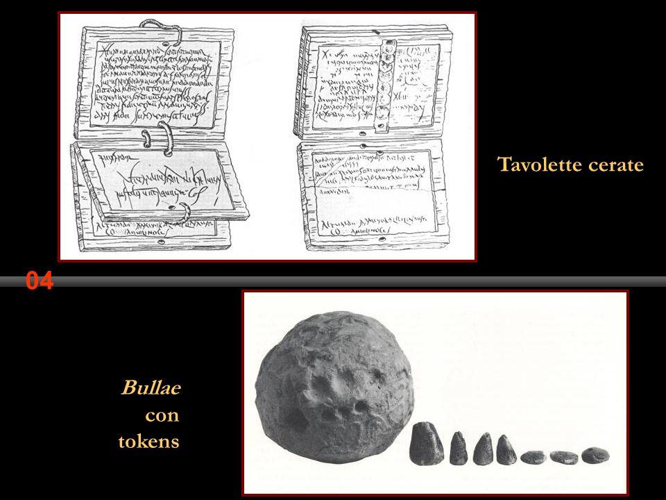 04 Tavolette cerate Bullae con tokens