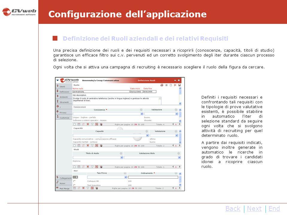 NextEnd Gestione del flusso di selezione Mediante il modulo Richieste di Assunzione, i line manager hanno la possibilità di comunicare i fabbisogni di personale all area HR.