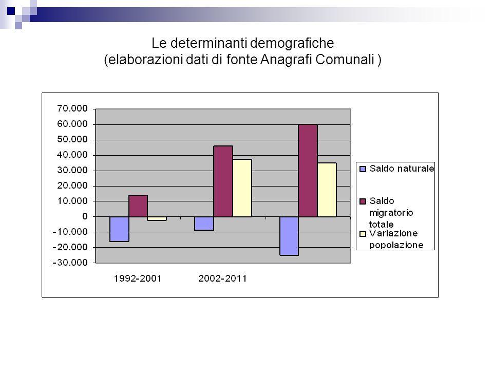 Le determinanti demografiche (elaborazioni dati di fonte Anagrafi Comunali )