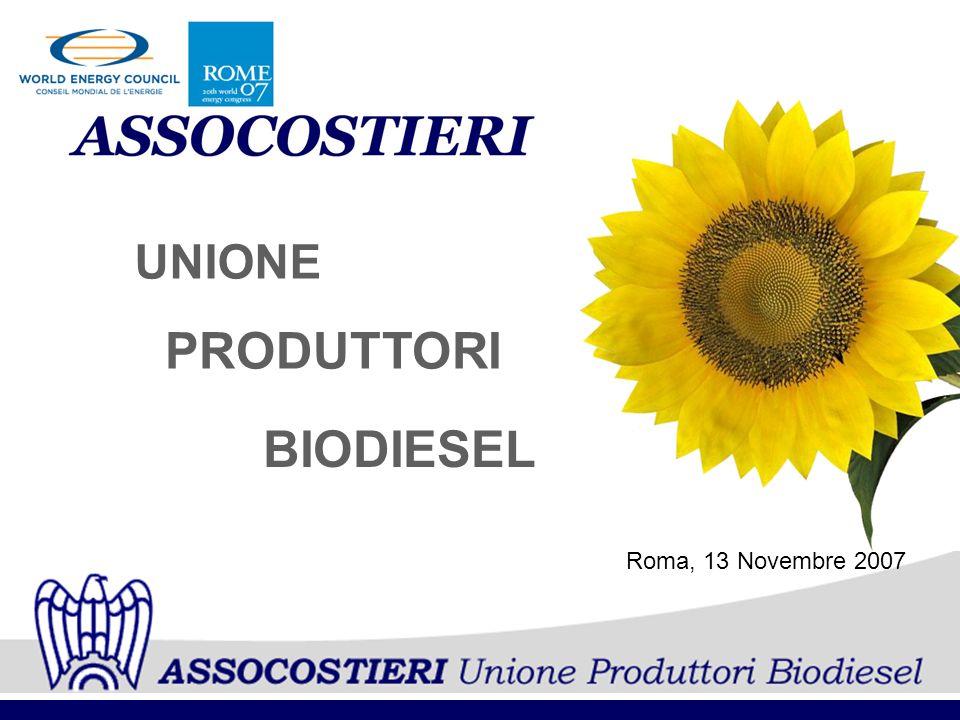 PRODUTTORI UNIONE BIODIESEL Roma, 13 Novembre 2007
