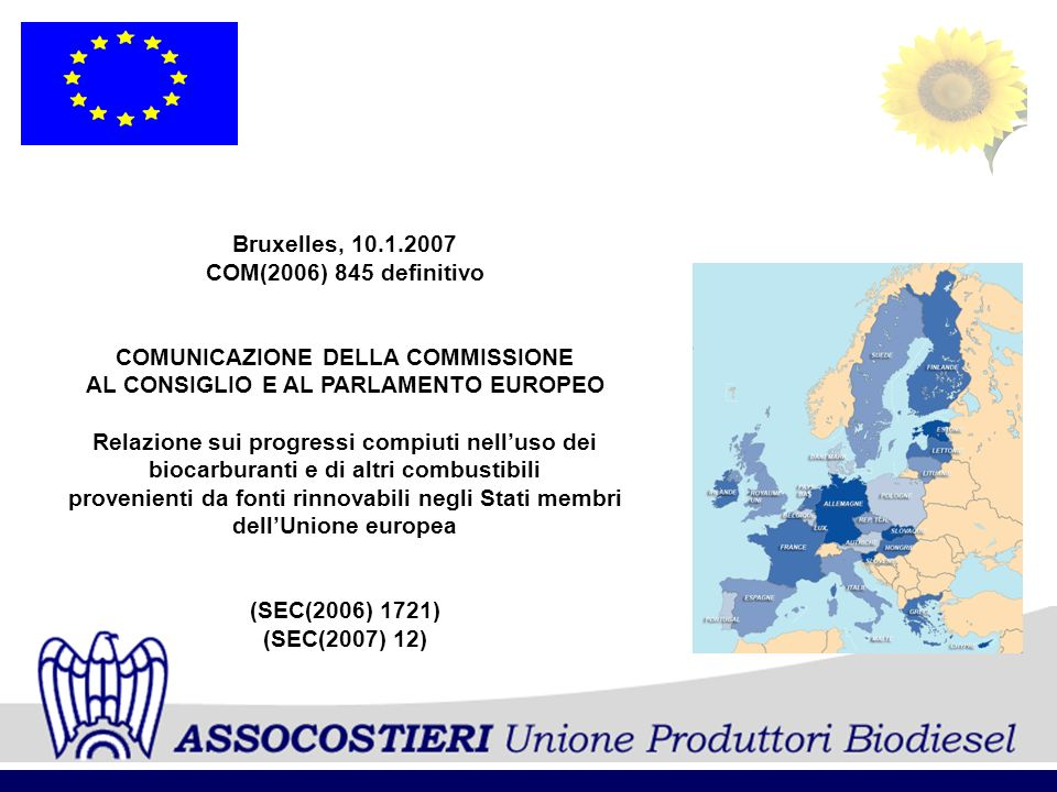 ___________________________________________________________________ ASSOCOSTIERI Unione Produttori Biodiesel IMMISSIONE IN CONSUMO DI BIODIESEL DA CONTINGENTE Anno 2005:Tonn.