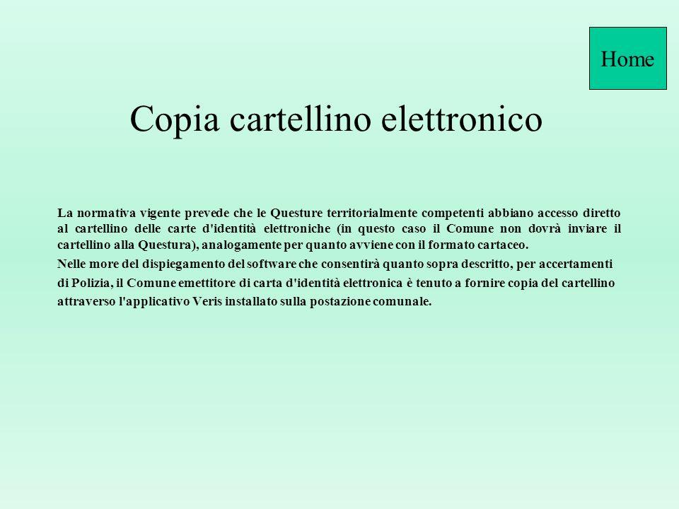 Conservazione sostitutiva cartellini c.i.e. Quesito: Nellassicurare che la carta d'identità è rilasciata nelle modalità previste dal TULPS R. D. n. 63