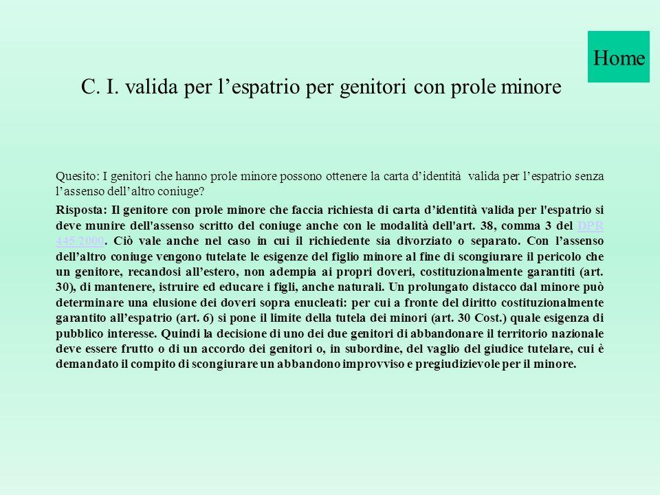 Conformità Duplicato carta didentità Apolide CIE non prorogata Scrittura a mano carta didentità Proroga c.i. (variazione nome) Identificazione per tes