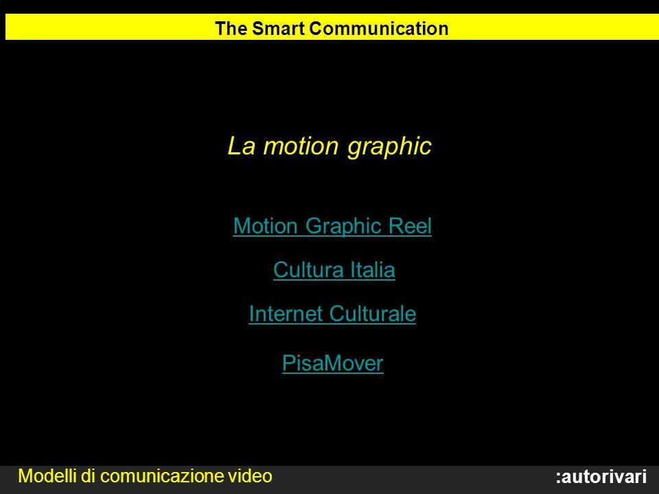 :autorivari La motion graphic The Smart Communication Modelli di comunicazione video Motion Graphic Reel Cultura Italia Internet Culturale PisaMover