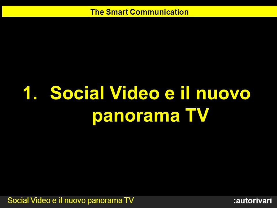 :autorivari 1.Social Video e il nuovo panorama TV The Smart Communication Social Video e il nuovo panorama TV