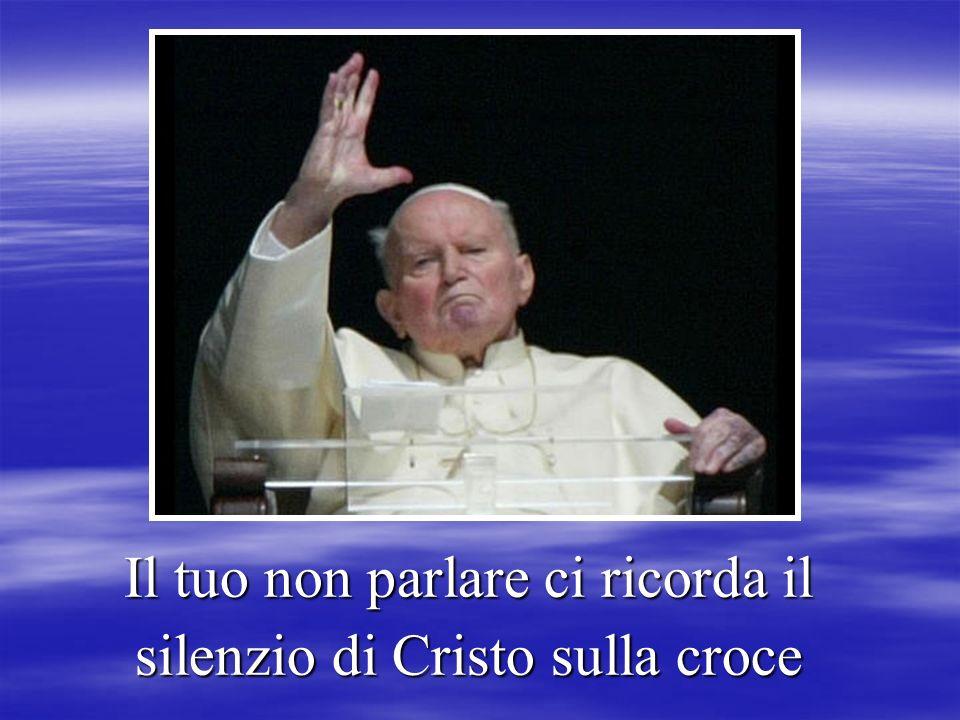 …unita alla sofferenza di Gesù crocifisso …