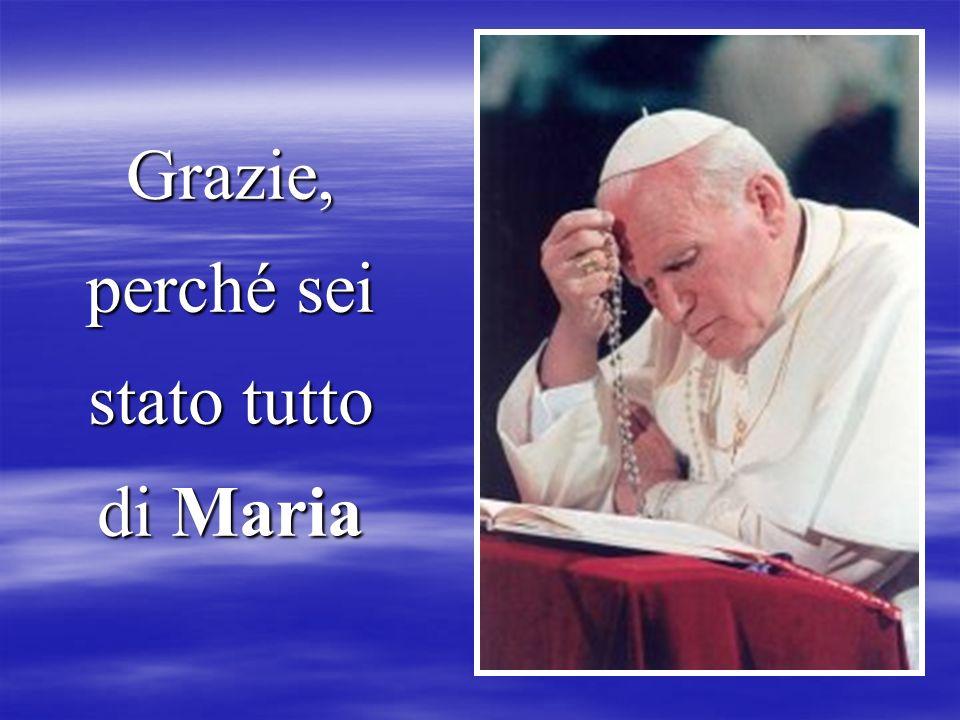 Ed oggi con la sua prima Lettera Enciclica DEUS CARITAS EST ci dice di continuare ad amare come tu ci hai insegnato. L'amore caritas sarà sempre neces