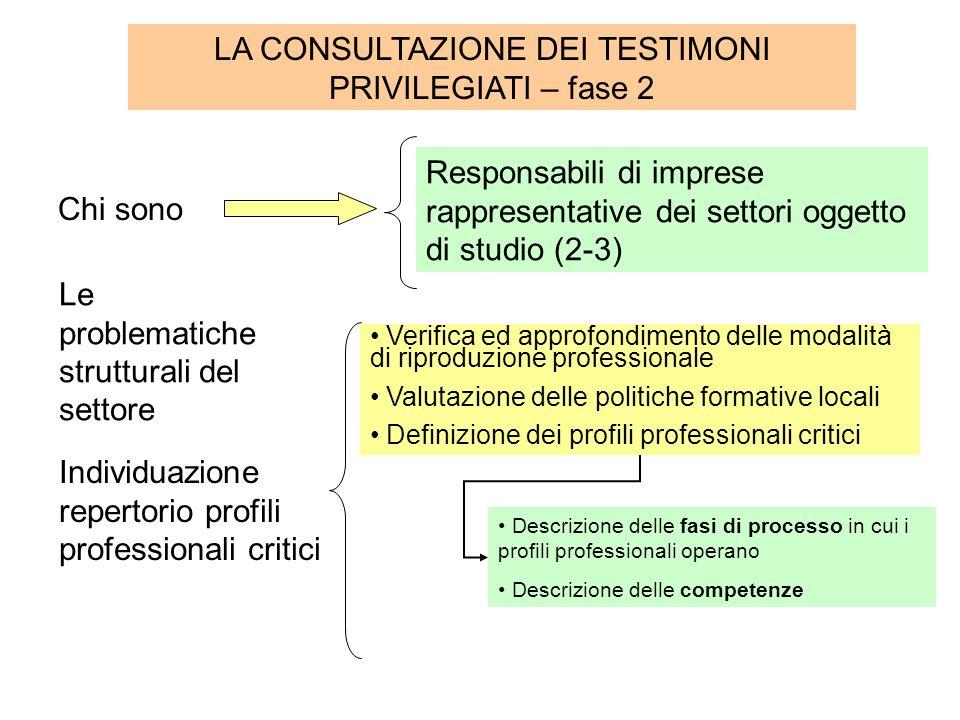 Conclusioni I profili professionali elaborati potrebbero essere testati dal Centro per lImpiego del Circondario.