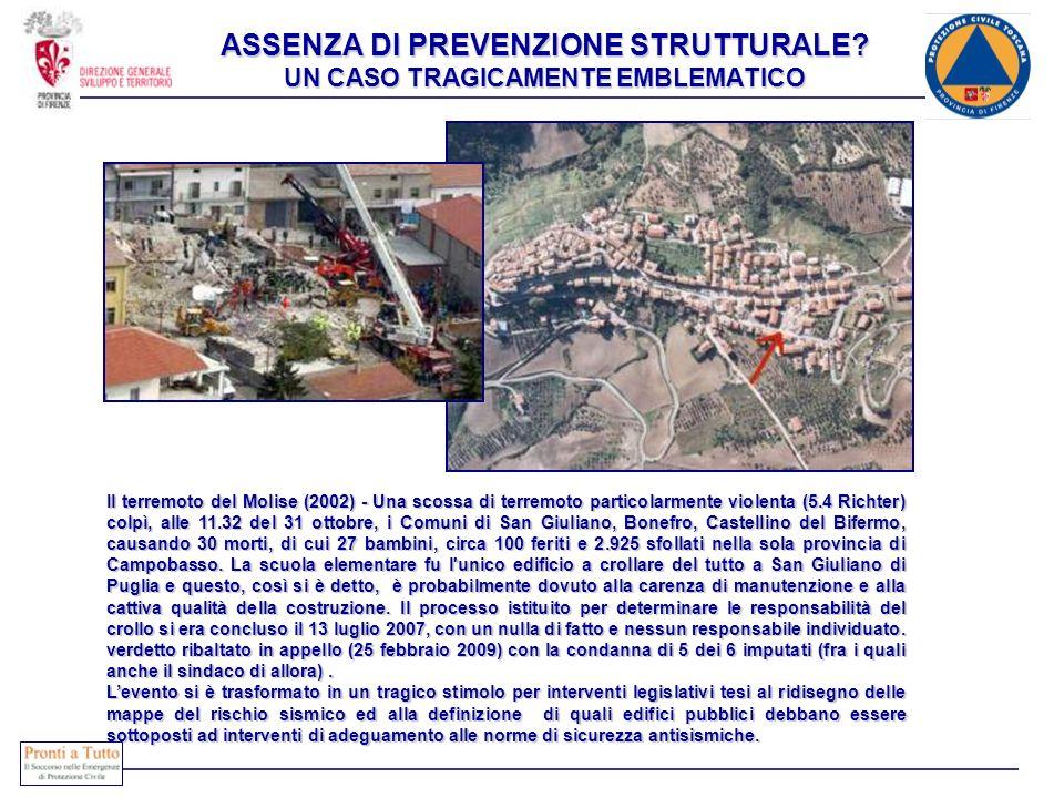 Il terremoto del Molise (2002) - Una scossa di terremoto particolarmente violenta (5.4 Richter) colpì, alle 11.32 del 31 ottobre, i Comuni di San Giul